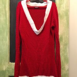 Wet Seal XS Santa Sweater Dress